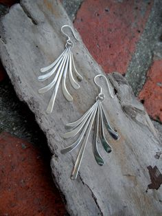 Sterling Silver Dangle Earrings by JackRabbitDesigns2 on Etsy, $20.00