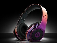 Monster Beats By Dr Dre Studio Headphone Rainbow Purple