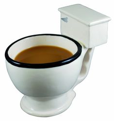 Why should dogs be the only ones allowed t drink out of the tiolet? This silly toilet-shaped mug holds up to 12 -ounces of your favorite hot beverage and will make your co-workers do a double take.