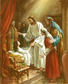 Jesus Christ Images, Jesus Bible, Bible Pictures, Jesus Pictures, Jairus Daughter, Jesus Drawings, Jesus Photo, Vintage Holy Cards, Christian Art