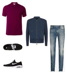 """""""weekend trip"""" by geishauno on Polyvore featuring Burberry, Maison Margiela, Canali, NIKE, men's fashion and menswear"""