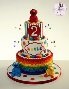 Cakes by Dusty: Katie's Sesame Street Birthday Cake Sesame Street Birthday Cakes, Sesame Street Cake, Muppet Babies, Dusty Cake, Elmo Cake, Cupcakes, Character Cakes, Occasion Cakes, Girl Cakes