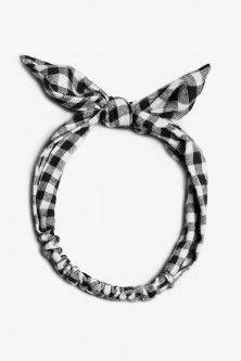Flannel Check Headband