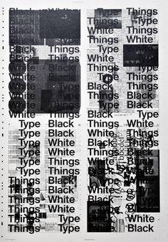 Black White Type Things Posterdesign: bernd kuchenbeiser2015
