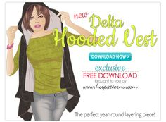 Delta Hooded Vest Download sizes 6-26 free pattern