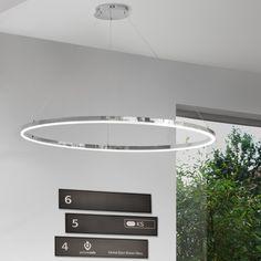 Ring L LED-Hängeleuchte Ø 80 cm / Chrom 44425