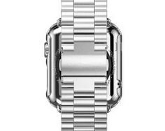 Stainless Steel Bracelet Strap Band + Case For Apple Watch Series 2 A great range of steel apple watch bracelets to suit every occasion Apple Watch Bracelets, Apple Watch Bands, Link Bracelets, Apple Watch Series 2, Stainless Steel Bracelet, Smart Watch, Watches, Silver, Stuff To Buy