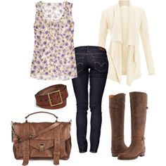 Country cute outfit.. i love anything with cute boots!!