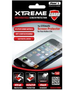 Xtreme 55252 Indestructible Screen Protector for iPhone 5 - 1 Pack - Retail Packaging - Clear
