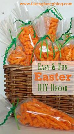 Yum!  Of all the fun, easy DIY Easter decor ideas the cocktail and Cheetos one are my favorites!