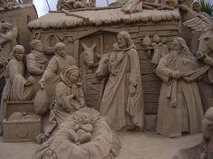 Baby Jesus Incredible sand sculpture!