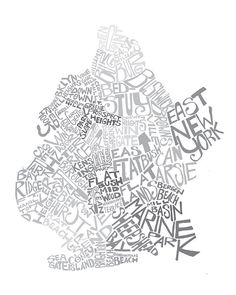 Hey, I found this really awesome Etsy listing at https://www.etsy.com/listing/81670015/brooklyn-ny-typography-map-art-print