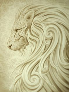 Lion's Grace · A. Andrew Gonzalez Art Shop · Boutique en ligne Powered by Storenvy
