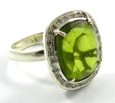 925 sterling silver peridot hydro gemstone cz design party wear new ring jewelry #magicalcollection #sterlingsilver #silver #rings #peridot