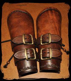 leather wide bracers by LesSoeursdArmes on Etsy, $60.00