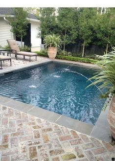 33 Charming Backyard Pool Landscaping Ideas You Will Love - You can give your swimming pool a new and different look simply by adding pool lights. A backyard pool is a lucky thing to have and if you have one, t. Amazing Swimming Pools, Building A Swimming Pool, Small Swimming Pools, Small Pools, Swimming Pools Backyard, Swimming Pool Designs, Pool Landscaping, Pools For Kids, Lap Pools