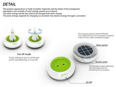 You can just stick this portable outlet to your window to start using solar power! #solar_power