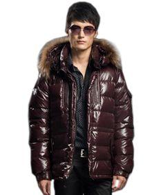 Mens moncler fur hood jacket