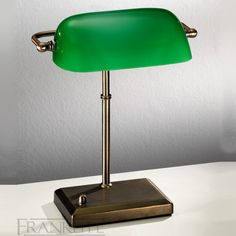 Banker's table lamp, antique bronze with green glass shade. Antique bronze banker's lamp with adjustable green glass shade and dimmer switch. 1 x Lamp not included Height- Base Width- x Width- BRAND- Franklite REFERENCE- AVAILABILITY: Working Days Bedroom Lighting, Interior Lighting, Home Lighting, Bedroom Lamps, Industrial Lighting, Home Office, Lighting Bugs, Bankers Desk Lamp, Lighting Superstore