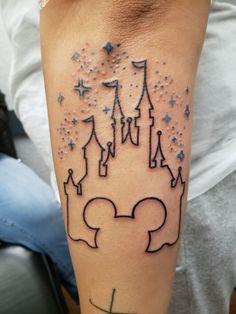 Disney castle tattoo by Jen Lodi, CA