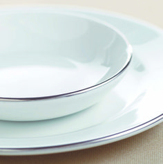 Churchill Crockery Alchemy Platinum Bowl and Plate. Find this range, or one like it, at https://www.pattersons.co.uk/products/30032-Catering-Crockery