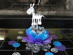 ZEBRA party decoration by missdaisyw on Etsy, $10.00  May purchase as many as you need.  Other items in shop can be made to match  http://www.etsy.com/shop/missdaisyw
