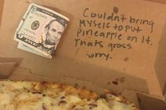 Arizona student claims pizzeria gave her $5 instead of 'gross' pineapple topping
