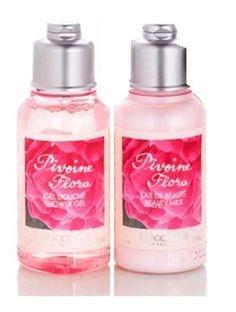 LOccitane-PIVOINE-FLORA-Showr-Gel-75ml-Beauty-Milk-Body-Lotion-75ml-NEW