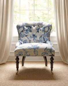 Middleton Chair upholstered in Shrewsbury linen cotton blend by Thibault