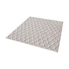 Dimond Home Aravali Kilim Wool Rope Rug In Fog And Cream - 16-Inch Square