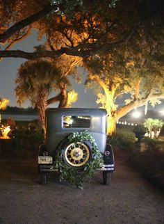 Vintage getaway car for wedding