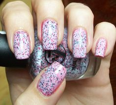 W7 Lava Flow - apparently these are dupes of the far more expensive Nails Inc Sprinkles.