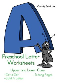 Preschool Letter Worksheets for letter A that I created for my daughter.