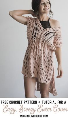 Crochet Pattern for the Easy Breezy Swim Cover - Megmade with Love