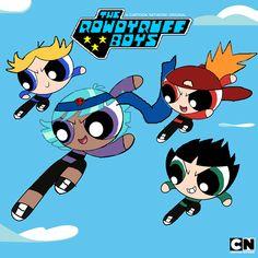 Rowdy ruff boys poder d cuatro ; Powerpuff Girls Cartoon, Powerpuff Girls Wallpaper, Ppg And Rrb, Teenage Ninja Turtles, Cute Disney Drawings, Boys Wallpaper, Cute Gif, Cartoon Art, Kawaii Anime