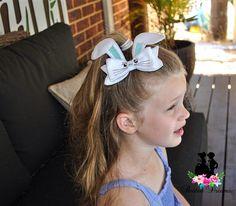 Bunny Bow hair clip Easter bunny Rabbit hair clip hair