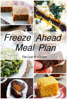 Freeze Ahead Meal Schedule - Vegetarian freezer meals, perfect for getting ready for baby! // The Live-In Kitchen Freeze Ahead Meals, Vegetarian Freezer Meals, Vegetarian Lunch, Vegan Meal Prep, Freezer Cooking, Vegetarian Recipes, Bulk Cooking, Freezer Recipes, Healthy Recipes