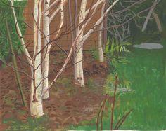 'Winter garden' gouache on paper  20 X 28 cm