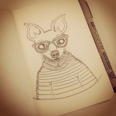 sketchbook , illustration, draw, chihuahua