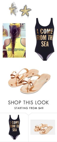 """Alya and James' summer pool fun"" by emerald-rose-1 ❤ liked on Polyvore featuring Gregor Pirouzi, Ted Baker, Bling Jewelry and summerpoolfun"