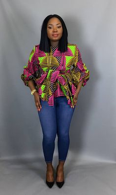 African print topAfrican clothingAfrican wax printAfrican