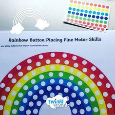 Rainbow Button Placing Fine Motor Skills Worksheet Fine Motor Skills Fine Motor Skills Activities Motor Skills
