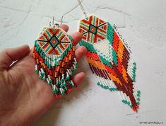 Beaded earrings Beaded pendant Native beaded pendant Native beaded earrings Seed bead earrings Native earrings and pendant Boho bead jewelry Aztec Earrings, Beaded Earrings Native, Long Tassel Earrings, Big Earrings, Fringe Earrings, Seed Bead Jewelry, Seed Bead Earrings, Beaded Jewelry, Crochet Earrings