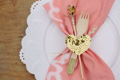 Cute Table Setting for a Valentine's Day Girls Brunch