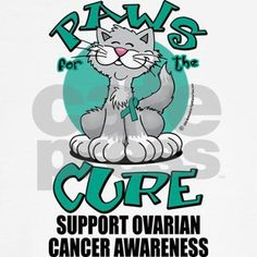 Ovarian Cancer Paws for the C Hooded Sweatshirt