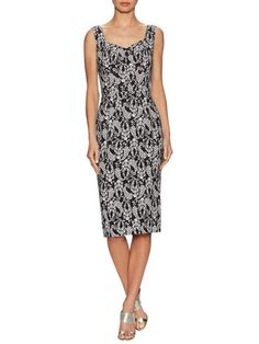 Floral Crepe Sheath Dress by Dolce