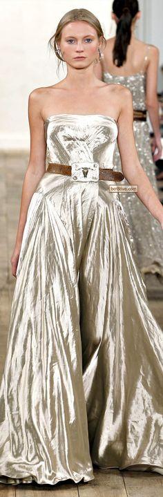 Ralph Lauren, Spring/Summer 2011 - the belt is dumb but this would make a pretty wedding dress.