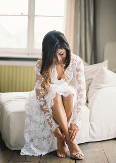 Gorgeous Temperley London wedding dress: http://www.stylemepretty.com/2014/11/11/fleur-de-sel-french-destination-wedding/ | Photography: Joseba Sandoval - http://www.sandovalstudios.com/