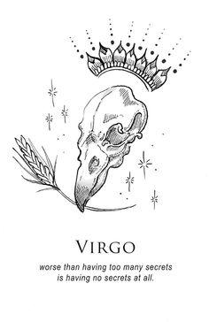 'Virgo – Shitty Horoscopes Book VII: Magick' Sticker by musterni - astrologie Zodiac Art, Leo And Virgo, Tarot, Illustration, Virgo Art, Drawings, Art, Magick