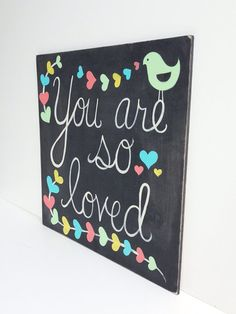 Could do this! Hand painted Chalkboard Art Baby Girl Nursery by SweetBananasArt
